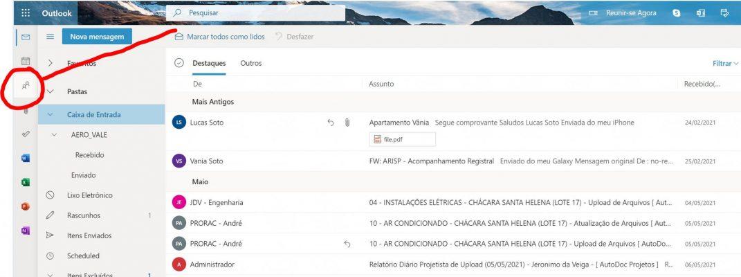 Hotmail-Pessoas