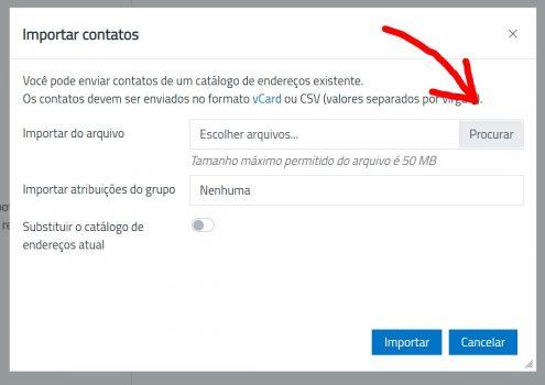 OfficeMail-Contatos-importar